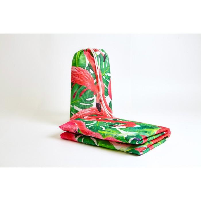 """Пляжное покрывало """"Фламинго"""" 90х140 см, микрофибра, полиэстер 100%"""