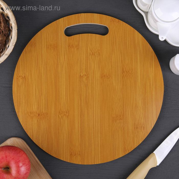 """Cutting Board """"Cinza"""" round 30х0,8 cm, bamboo"""