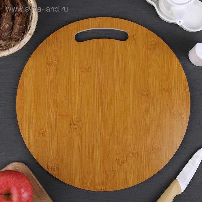 """Cutting Board """"Cinza"""" round 32х0,8 cm, bamboo"""