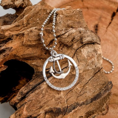"""Pendant """"Anchor"""" in the circle, color 48 m"""