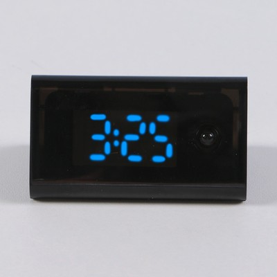 Часы электронные, настольные, черные, 5.5х3х3 см