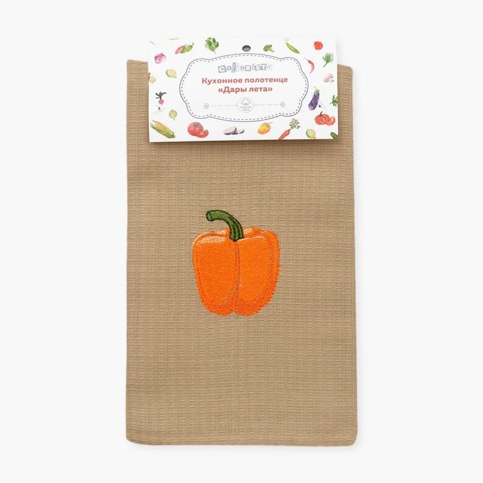 Полотенце Collorista Дары лета - Оранжевый Перец, 40×70, хлопок 100%, 150 г/м²