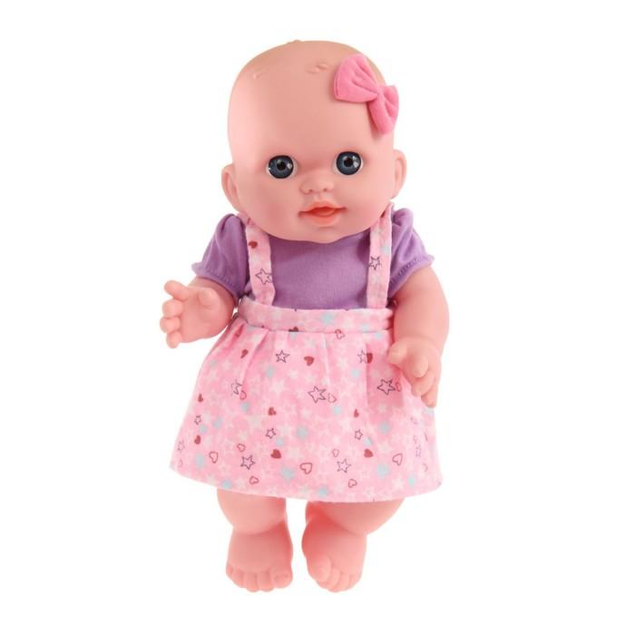 Пупс «Мила» в розовом костюме, в пакете