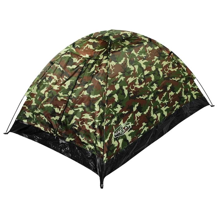 Палатка туристическая SANDE II, 205 х 150 х 105 см, 2-местная, цвет милитари - фото 36240