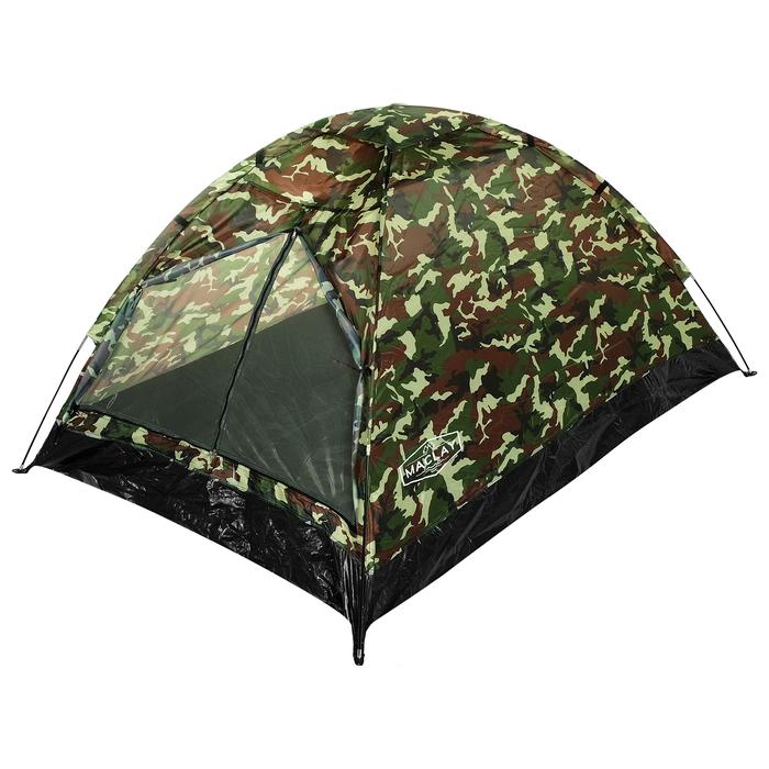 Палатка туристическая SANDE II, 205 х 150 х 105 см, 2-местная, цвет милитари - фото 36241