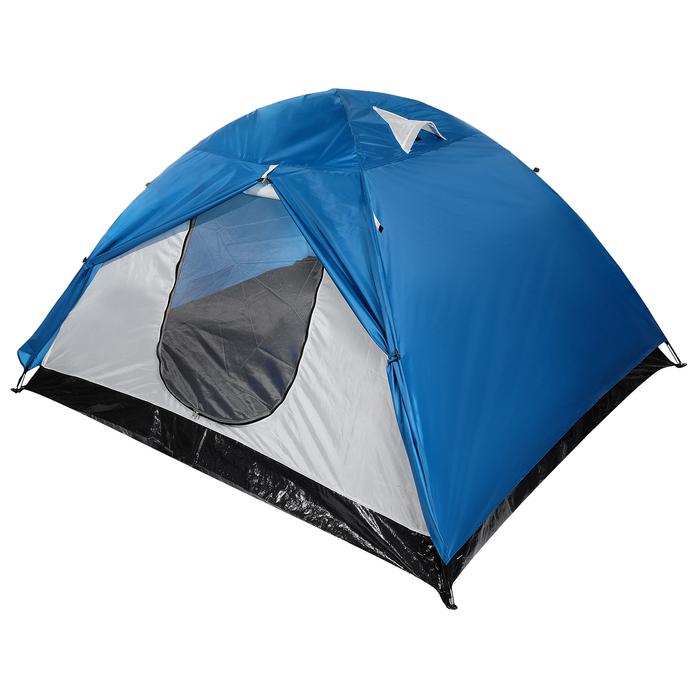Палатка туристическая POLAR, 260 х 240 х 130 см, 4-местная, цвет синий - фото 36249