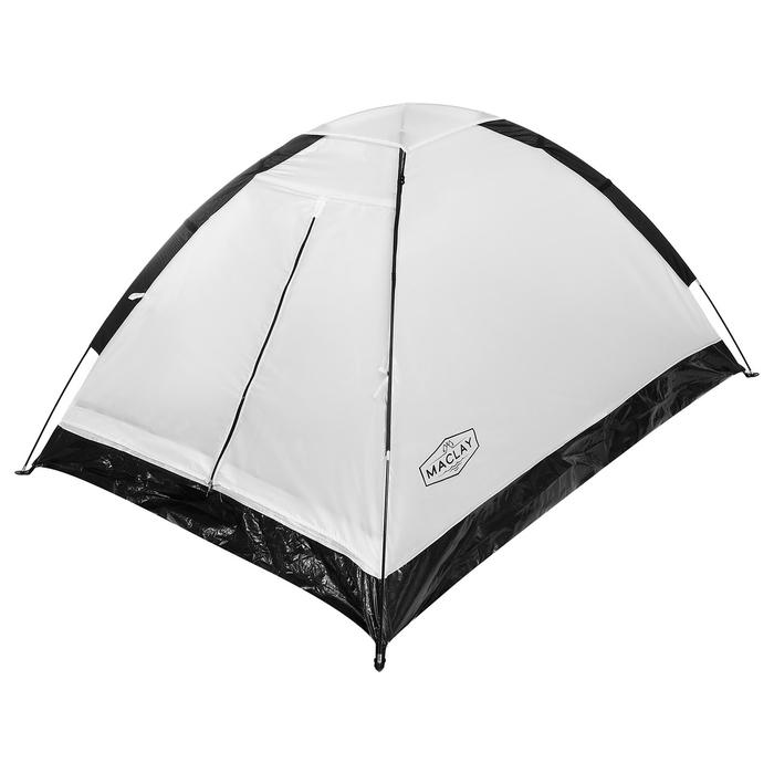 Палатка туристическая SANDE, 205 х 150 х 105 см, 2-местная, цвет белый