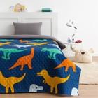 Покрывало детское Экономь и Я Ультрастеп «Динозаврики» 150х210 ± 5 см, пл 205 г/м²