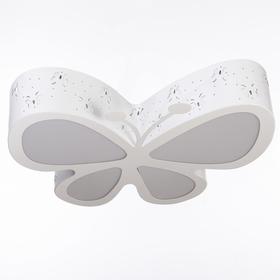 """Люстра """"Бабочка"""" LED 3 режима 48Вт белый 52х46,5х10 см"""