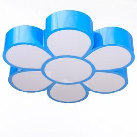 """Люстра """"Цветок"""" LED 3 режима 72Вт синий 50х55х8 см"""