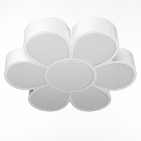 "Люстра ""Цветок"" LED 3 режима 72Вт белый 50х55х8 см"