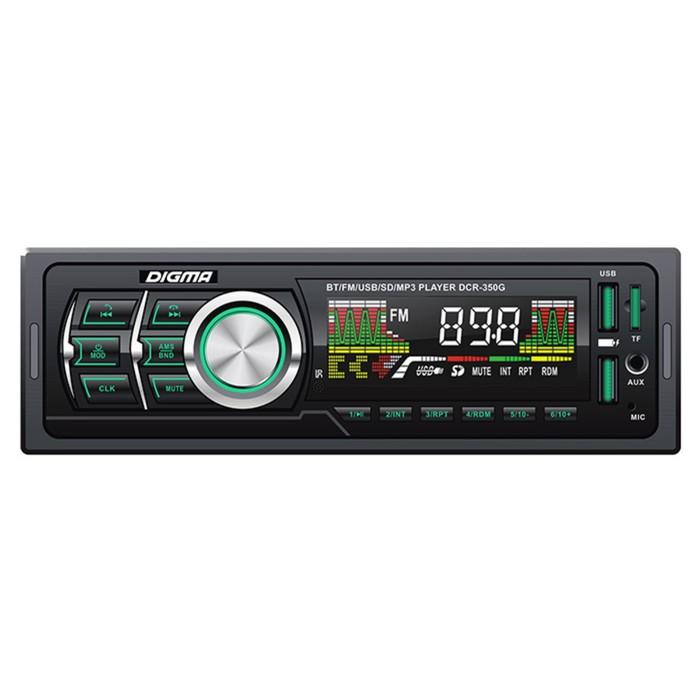 Автомагнитола Digma DCR-350G, Bluetooth