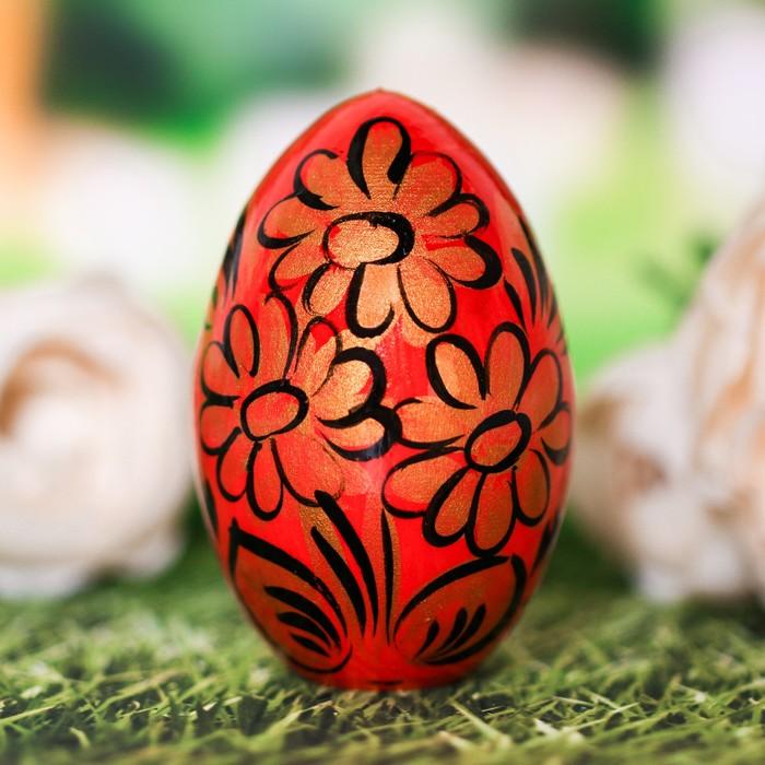 """Пасхальное яйцо  """"Золотые цветы"""" 7 см"""
