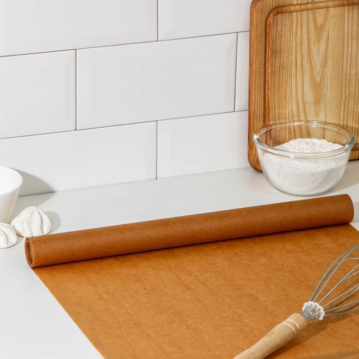 Пергамент для выпечки силиконизированный 38 см x 5 м Grifon, в футляре - фото 308015314