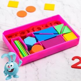 Счётный материал «Учимся считать», СМЕШАРИКИ, цвет МИКС, 130 элементов в наборе