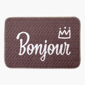 """Коврик детский Крошка Я """"Bonjour"""" 40х60 см,хлопок, п/э"""