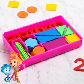 Счётный материал «Учимся считать», ФИКСИКИ, цвет МИКС, 130 элементов в наборе