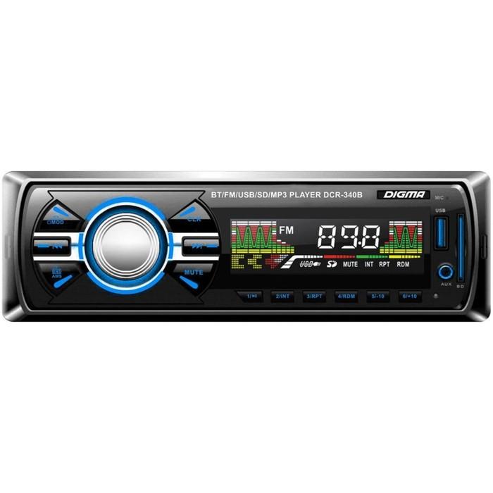 Автомагнитола Digma DCR-340B, Bluetooth