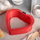 """Форма для выпечки со стеклянным дном 24х22,5х8 см """"Сердце"""", цвет МИКС"""