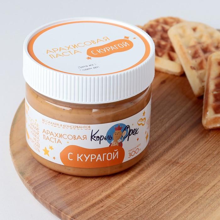 Арахисовая паста с мёдом и курагой, 300 г