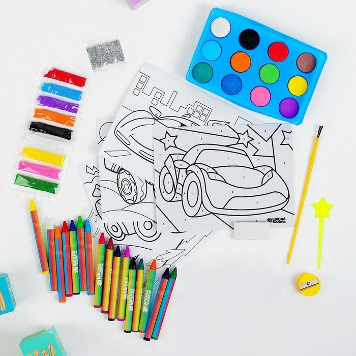 """Набор для рисования """"Гонки"""" в пакете - фото 798197093"""
