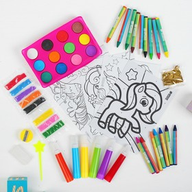 "A drawing kit ""Magic unicorn"" package"