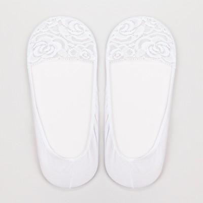 Подследники женские ажурные цвет белый, р-р 23-25 (36-40)