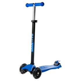 Самокат Maxiscoo Junior со светящимися колесами, цвет синий