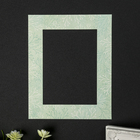 """Mats for picture frames 13x18 cm """"Twigs on a light green"""" external size 20x25 cm"""