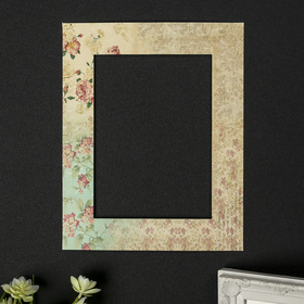 """Mats for picture frames 13x18 cm """"Vintage roses"""" outdoor size 20x25 cm"""