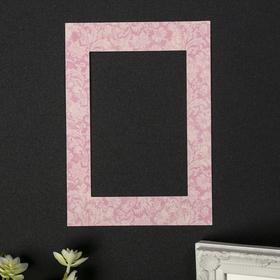 "Passepartout for photo frame 10x15 cm ""Lush color to light pink"" external size 15x21 cm"