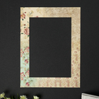 "Passepartout for photo frame 21x30 cm ""Vintage roses"" outdoor size 30x40 cm"