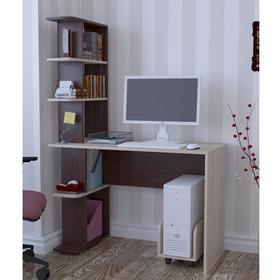 Стол компьютерный СК07, 1100х550х1590, Дуб молочный/Венге