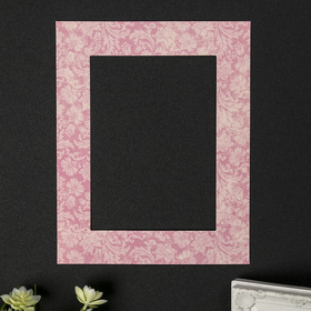 Паспарту для фоторамки 13х18 см 'Пышный цвет на светло-розовом' внешний размер 20х25 см Ош