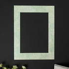"Passepartout for photo frame 21x30 cm ""Twigs on a light green"" external size 30x40 cm"