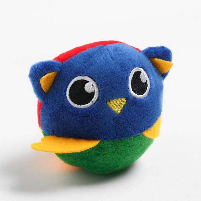 Развивающая, мягкая игрушка - мячик «Совушка», с погремушкой, в сумочке