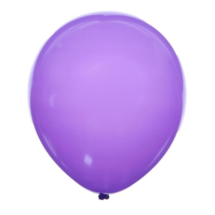 """Шар латексный 12"""", пастель, набор 100 шт, цвет фиолетовый - фото 152550946"""