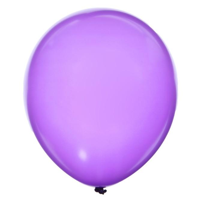"""Шар латексный 12"""", металл, набор 100 шт., цвет фиолетовый - фото 308475046"""