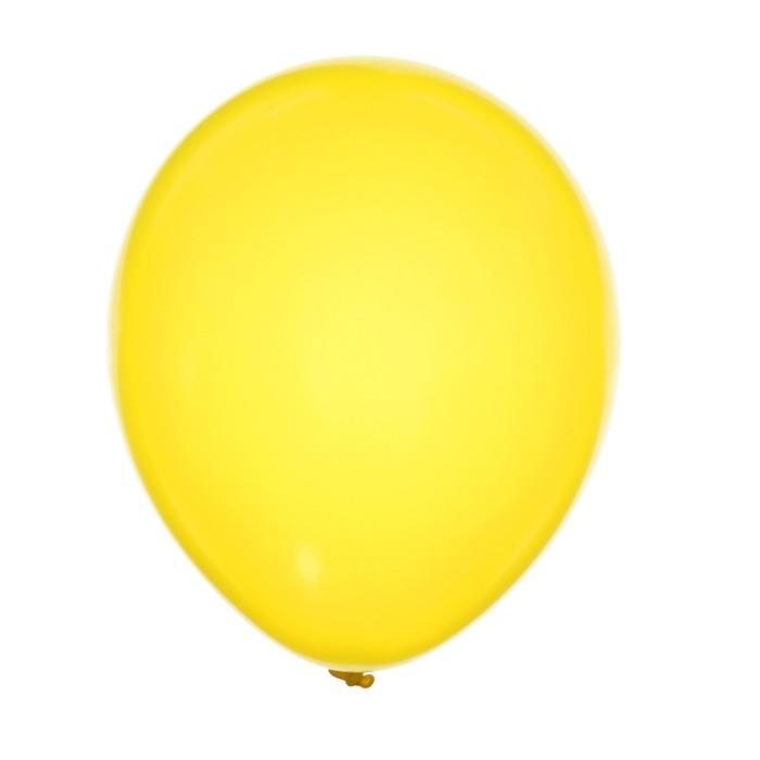 "Шар латексный 12"", металл, набор 100 шт., цвет жёлтый - фото 308475048"