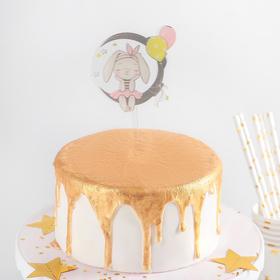 Топпер на торт «Мечтательный зайчик», 13×8 см