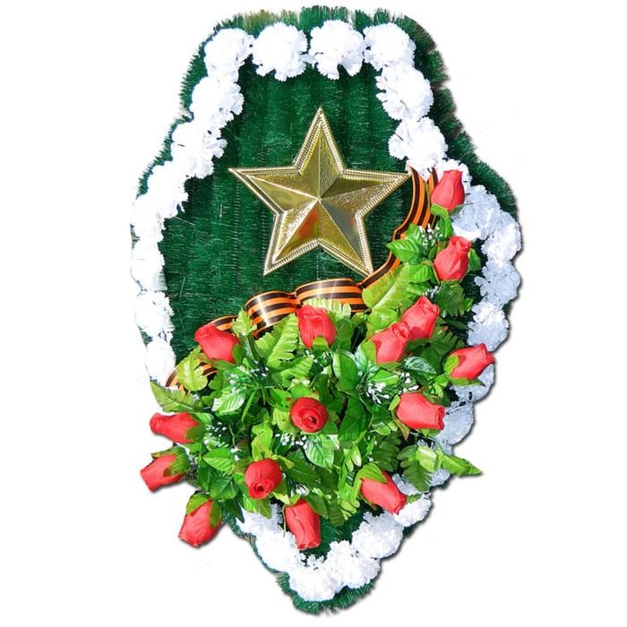 """Композиция тематическая """"Щит"""", с тюльпанами, 20х70х120 см"""