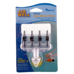 Подвесной обратный клапан с 4 выходами, регулировкой подачи воздуха  и встроенным фильтром