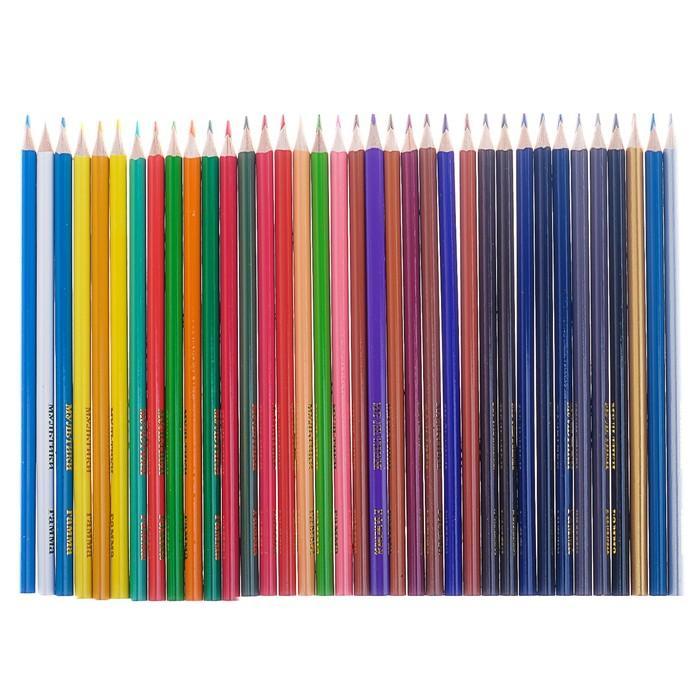 Карандаши 36 цветов «Мультики», стержень d=2.6 мм, трёхгранные - фото 440956449