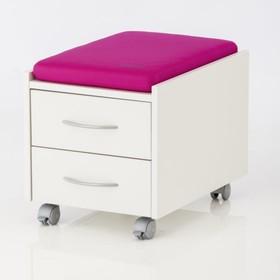 Подушка для тумбы, 360х550х60, Розовый