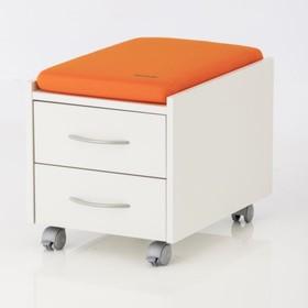 Подушка для тумбы, 360х550х60, Оранжевый