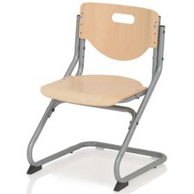 Стул Chair Plus, 470х620х470, Серебро/Бук