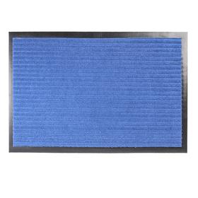 Коврик придверный влаговпитывающий ребристый «Стандарт», 40×60 см, цвет синий Ош