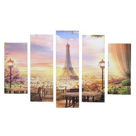 "Модульная картина ""Париж""(2-23х52; 2-24х70; 1-24х80) 120х80см"