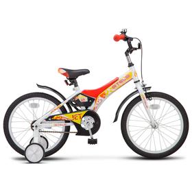 """Велосипед 18"""" Stels Jet, Z010, цвет белый/красный"""