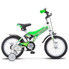 """Велосипед 14"""" Stels Jet, Z010, цвет белый/салатовый"""
